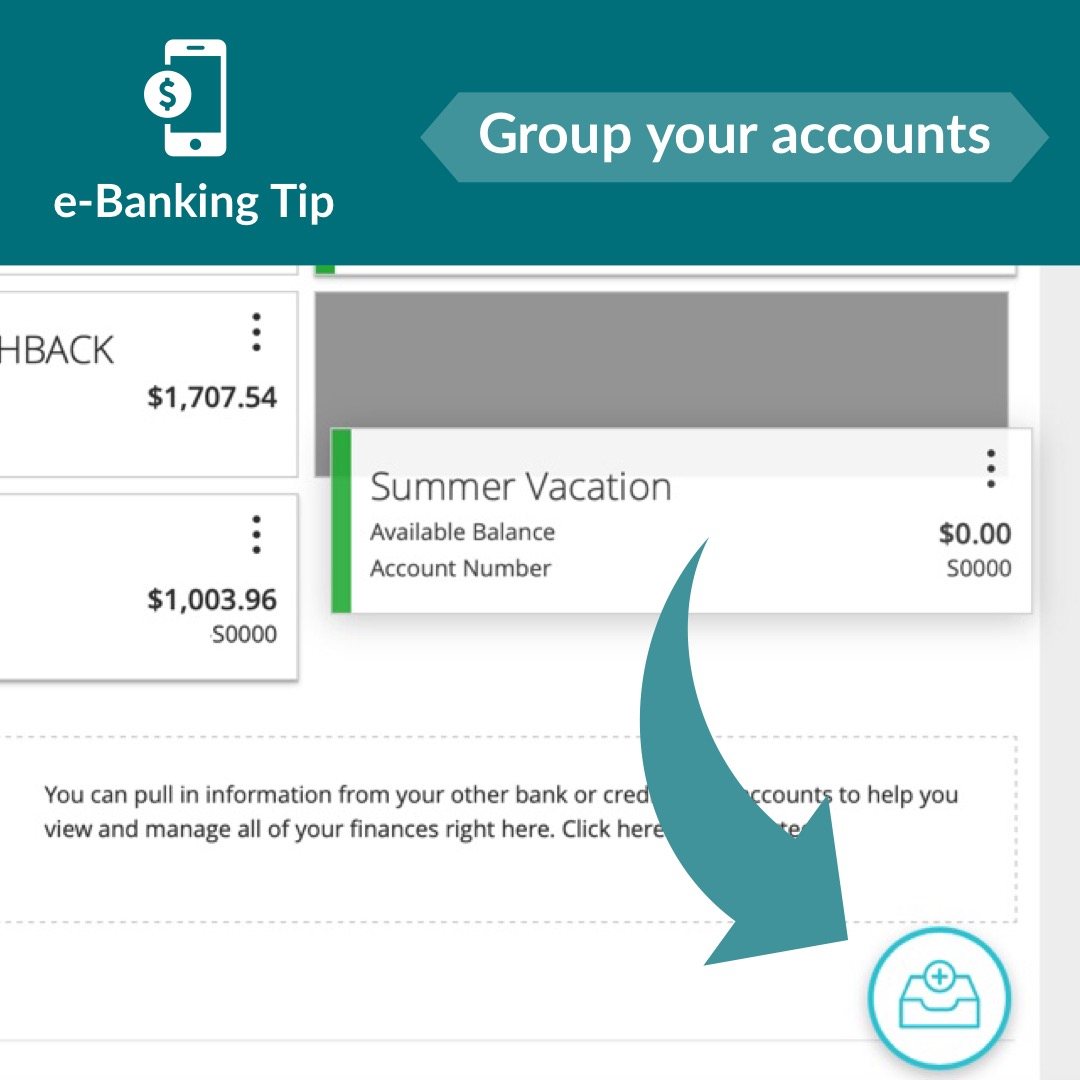 How to group your account in e-Banking.