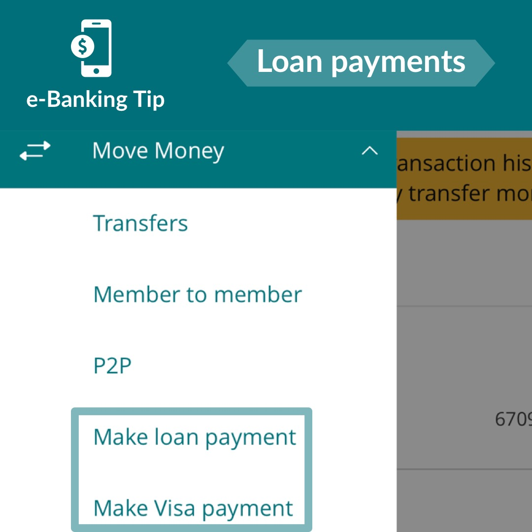 Making a loan payment in e-Banking
